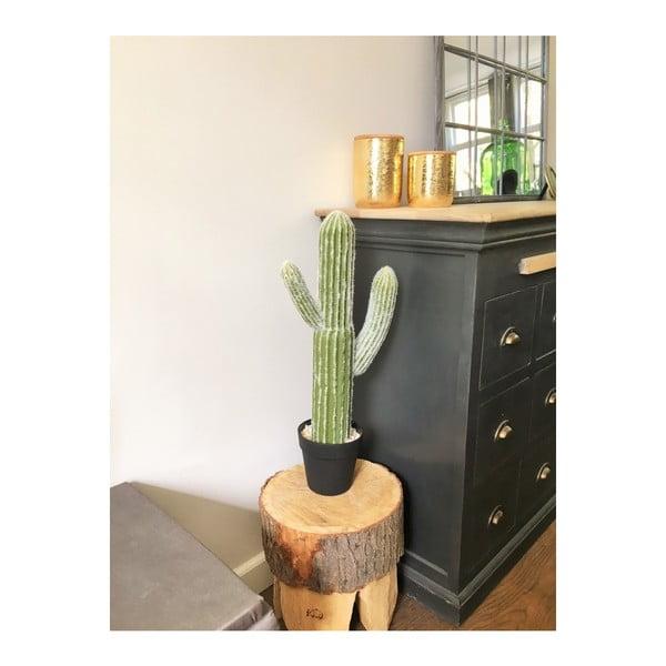 Dóza ve zlaté barvě s bambusovým víkem HouseVitamin® Jar, výška15cm