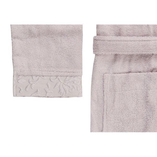 Světle fialový set županu, ručníku a osušky ze 100% bavlny Crespo, vel. M/L