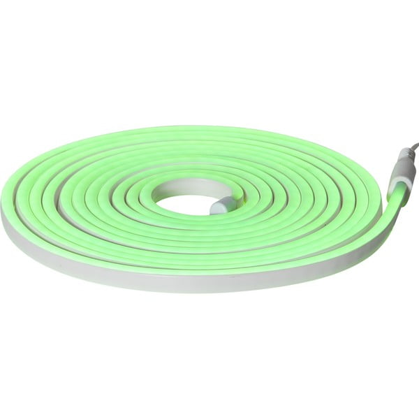 Șirag luminos pentru exterior Best Season Rope Light Flatneon, lungime 500 cm, verde