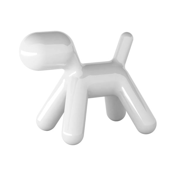 Stolička Puppy bílá lesklá, 43 cm