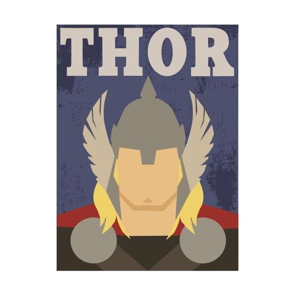 Super Heroes Thor poszter, 30 x 40 cm - Blue-Shaker