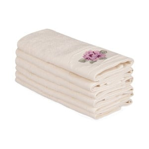 Sada 6 béžových bavlněných ručníků Nakis Cassie, 30 x 50 cm