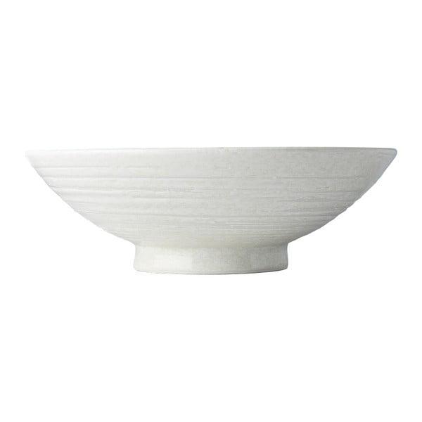 Star fehér kerámia tál ramenhez, ø 25 cm - MIJ