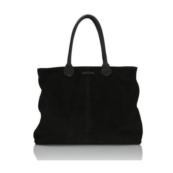 Černá kožená kabelka Massimo Castelli Abbondio