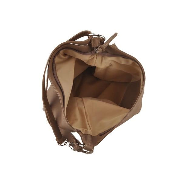 Kožená kabelka Dattero, sv. hnědá