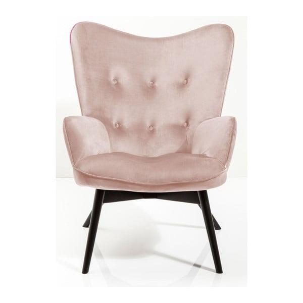 Vicky világos rózsaszín fotel - Kare Design