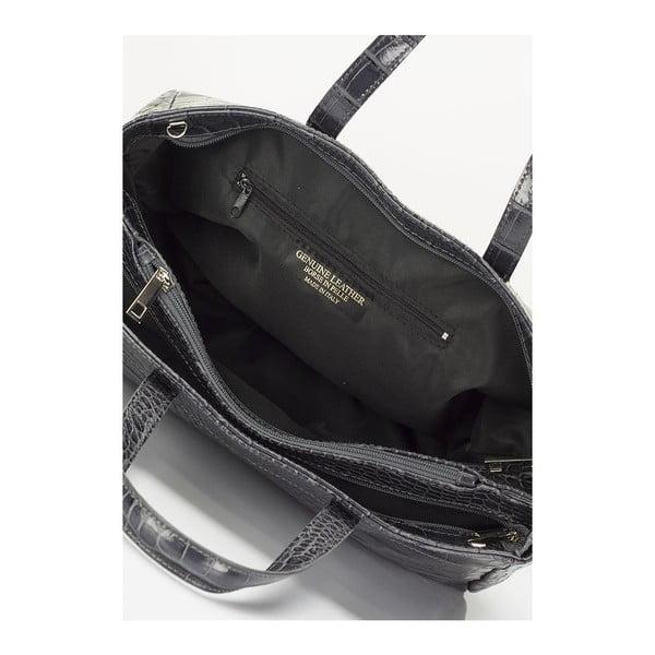 Šedá kožená kabelka Lisa Minardi Magnata