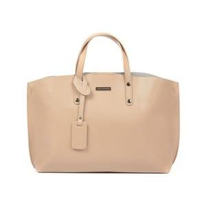 Pudrově růžová kožená kabelka Luisa Vannini Beatrice