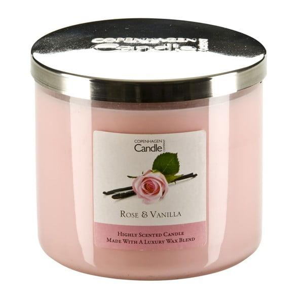 Illatgyertya rózsa és vanília illatban, 50 óra égési idővel - Copenhagen Candles