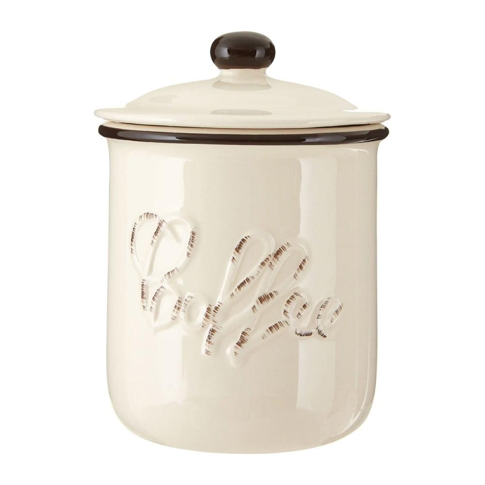 Béžová dóza z dolomitu na kávu Premier Housewares Chiltern, ⌀ 11 x 14 cm