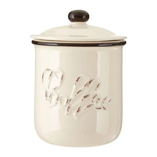 Béžová dóza z dolomitu na kávu Premier Housewares Chiltern, ⌀ 11×14cm