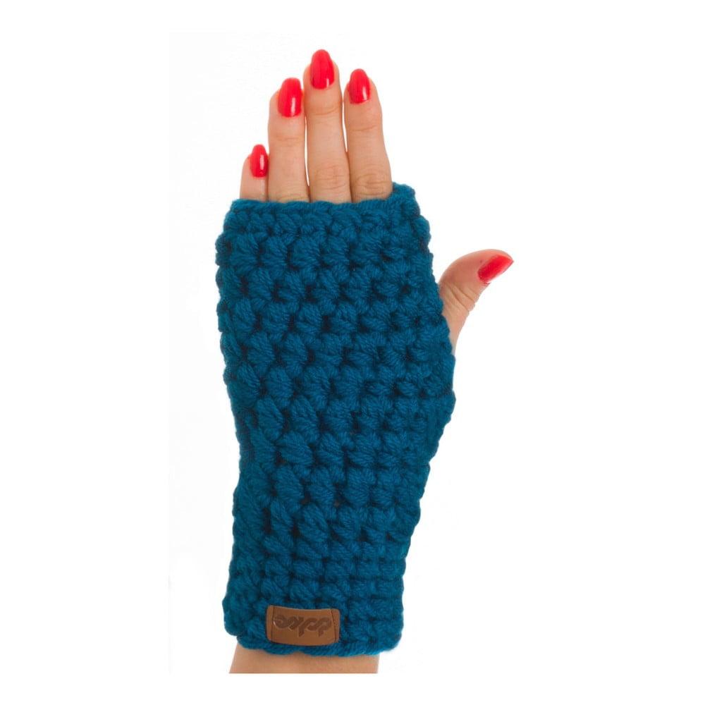 Modrá ručně háčkované návleky DOKE Petrol