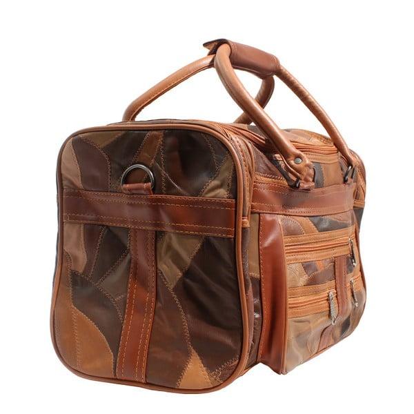Hnědá kožená taška Strada