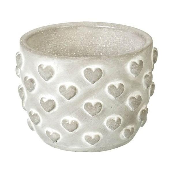 Květináč Concrete Hearts, 9,5x13,5x13,5 cm