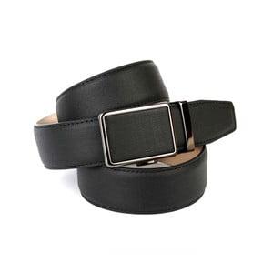 Pánský kožený pásek 37D10 Black, 90 cm