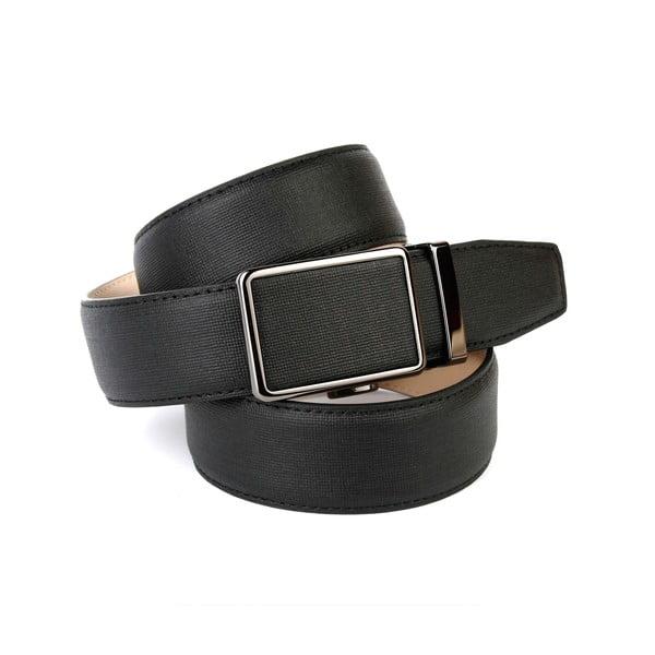 Pánský kožený pásek 37D10 Black, 100 cm