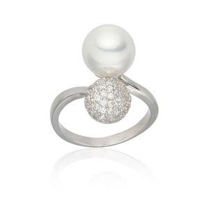 Inel cu perlă Nova Pearls Copenhagen Michelle White, măr. 56
