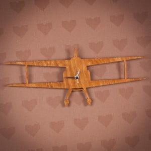Dřevěné hodiny Letadlo