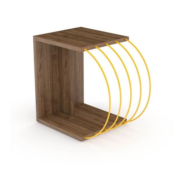 Stolik z dekorem drewna orzechowego Monty