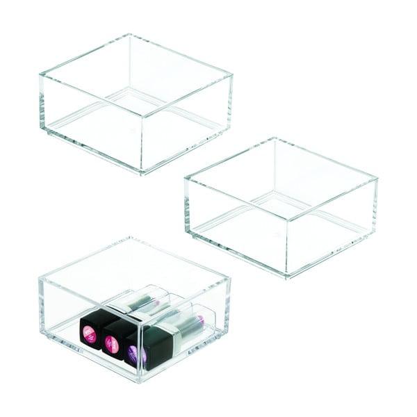 Průhledný stohovatelný organizér iDesign Clarity, 10x10cm