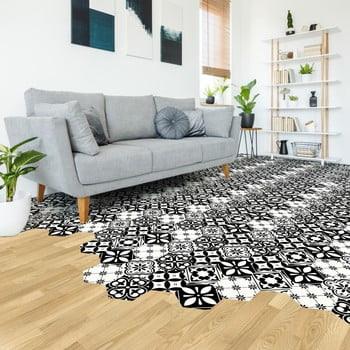 Set 10 autocolante de podea Ambiance Hexagons Manoela, 40 x 90 cm de la Ambiance