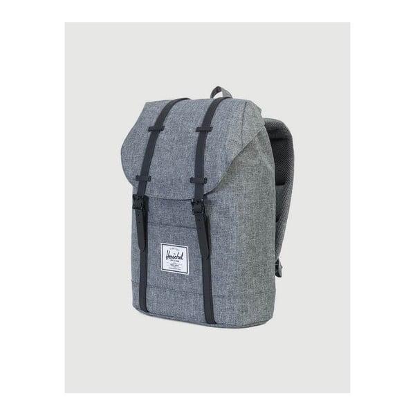Tmavě šedý batoh s černými popruhy Herschel Retreat