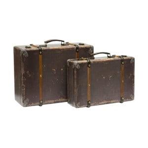 Set 2 valize în stil vintage Novita
