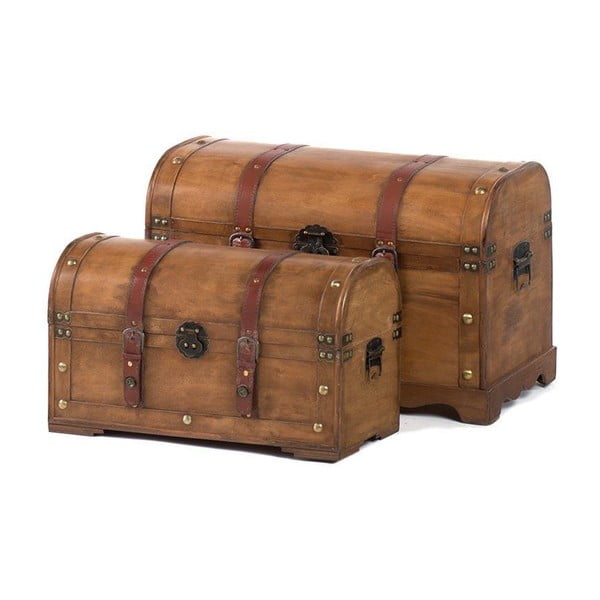 Sada 2 truhel Wooden Trunk