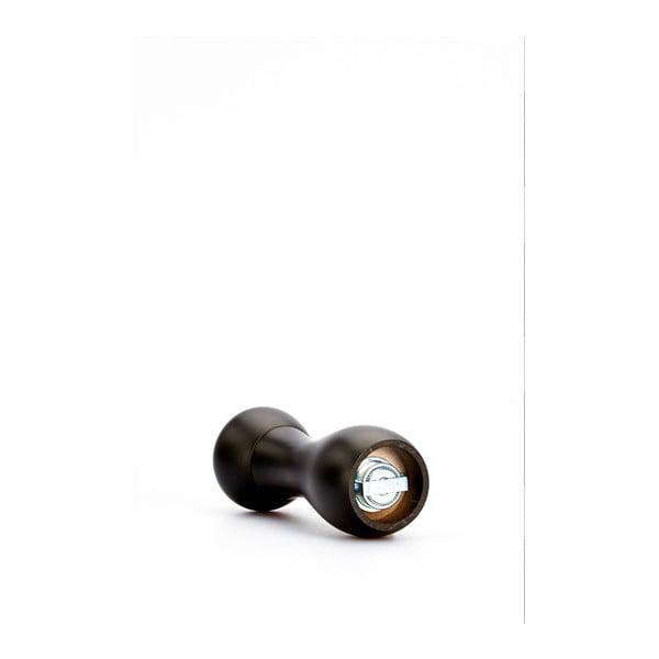 Černý mlýnek na pepř z bukového dřeva Bisetti Beech, výška18cm