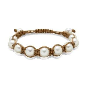 Hnědý perlový náramek Mara de Vida