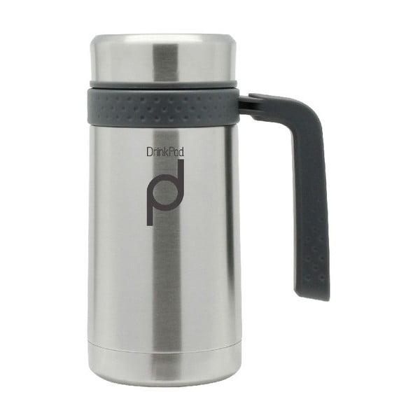 Stříbrný termohrnek Pioneer Drinkpod , 450 ml
