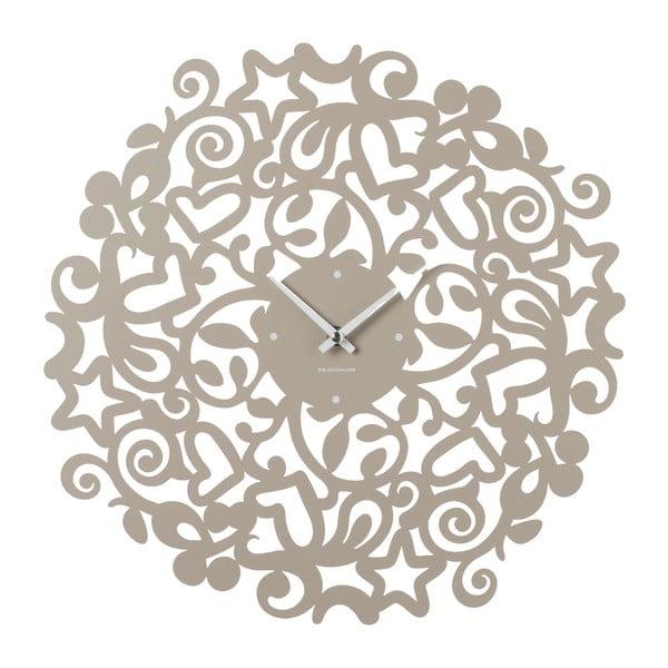 Béžové nástěnné hodiny Brandani Abbracci, ⌀40cm