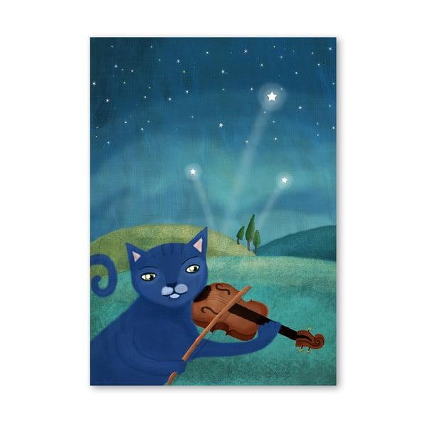 Plakát od Mia Charro - Cat and Violin