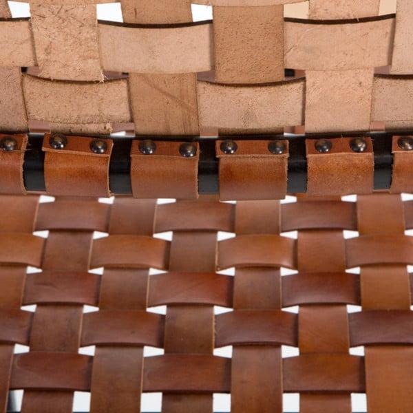 Scaun din piele cu suport pentru brațe Thai Natura