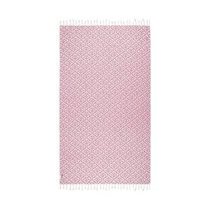 Růžová hammam osuška Kate Louise Bonita, 165x100cm