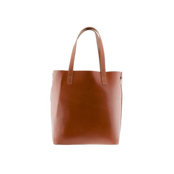 Kožená kabelka Markese 8768 Cognac