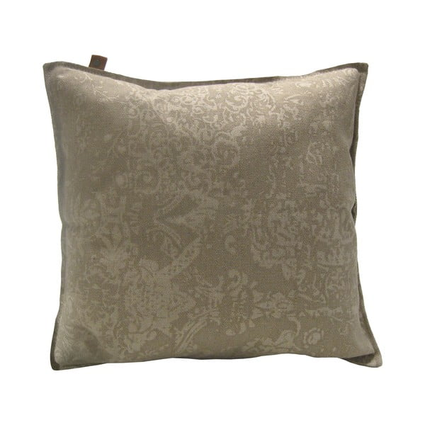 Hnědý polštář OVERSEAS Vintage,60x60cm