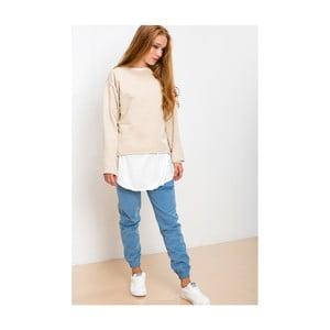 Béžovo-bílá mikina Lull Loungewear Brave Souled, vel. XL