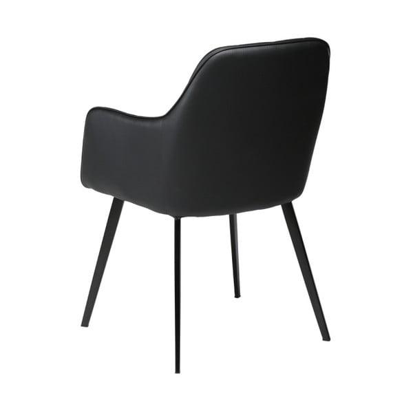 Černá koženková židle DAN-FORM Denmark Embrace