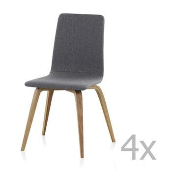 Set 4 scaune căptușite din lemn Geese