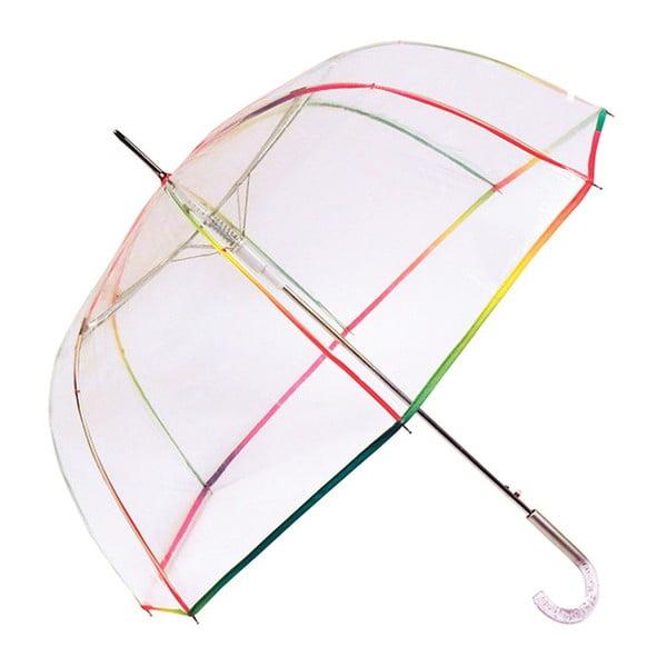Transparentní holový deštník s duhovými detaily Birdcage, ⌀95cm