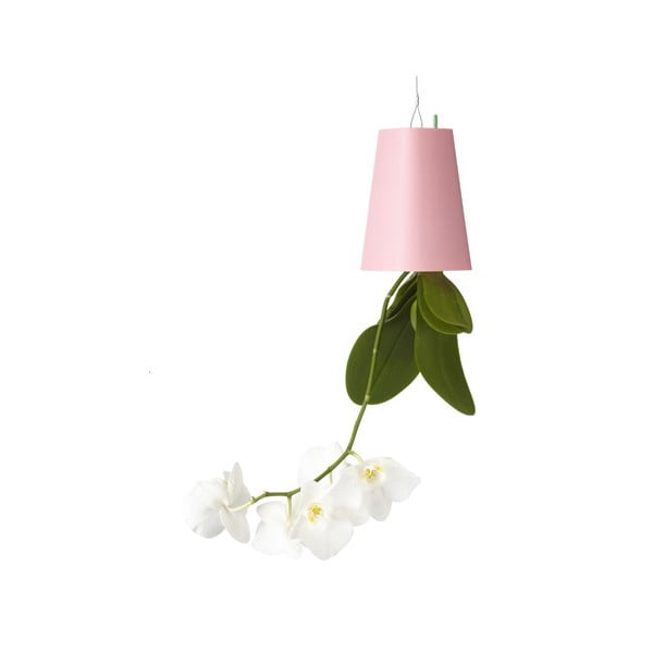Outdoor létající květináč Sky Planter, malý růžový