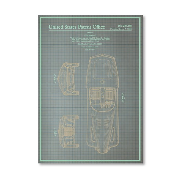 Plakát Automobile I, 30x42 cm