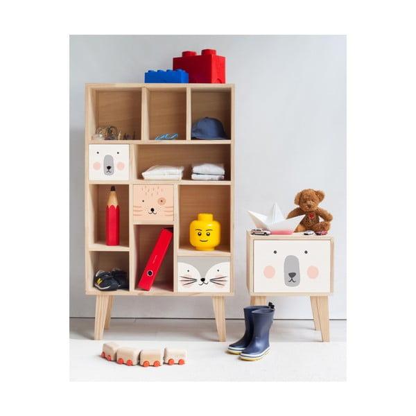 Dětský noční stolek zborovicového dřeva Little Nice Things Polar Bear