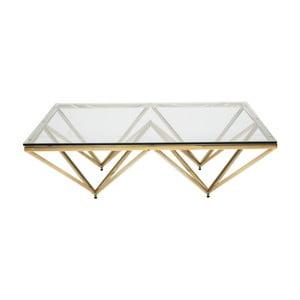Konferenční stolek s podnoží ve zlaté barvě Kare Design Network