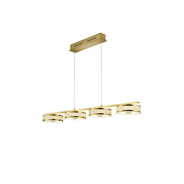 Závěsné LED svítidlo Trio Agento ve zlaté barvě, délka 1,15 m
