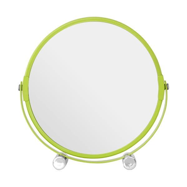 Oglindă cosmetică dublă Premier Housewares, 18 x 19 cm, verde