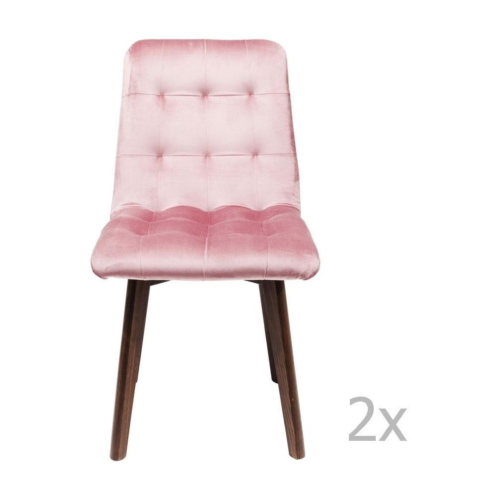 Sada 2 růžových jídelních židlí Kare Design Moritz