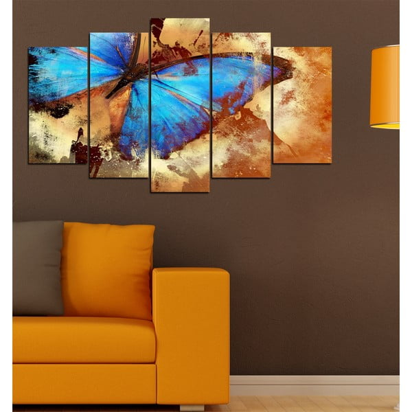 5dílný obraz Motýlí křídla