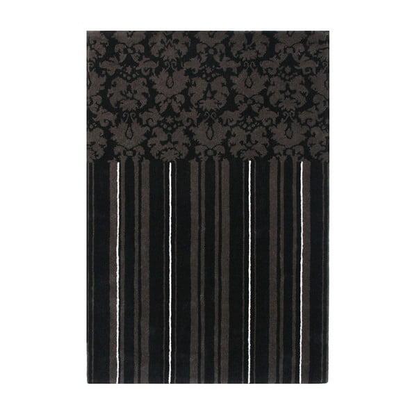 Vlněný koberec Past Black, 140x200 cm
